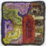 Log Cabin mini mat, Susan L. Feller