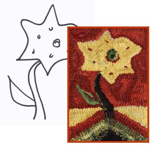 Note Card Barbara's Star Flower