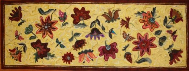 Caraway Garden Runner created using motifs from Design in a Box-Frakturs