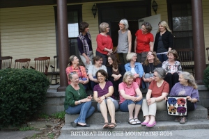 2014 participants at RETREAT INTO THE MOUNTAINS sponsored by Susan L. Feller, Ruckman Mill Farm