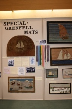Grenfell Mats Historical display by author Paula Laverty