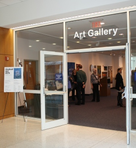 Entrance to UConn Gallery Hooked Art 2014