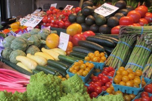 Pikes Market produce
