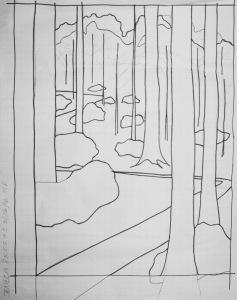 Sketch of Seneca Rocks #2 Susan L Feller