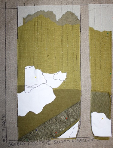 stitching of trees, cutaway for hooked sections