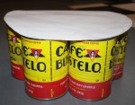seven cans for the base of footstool