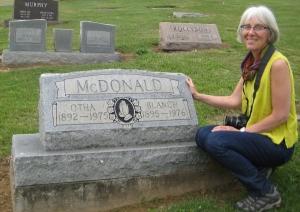 McDonald Sisters grave, Susan L Feller