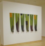 Verdant 2010, Susan Iverson wool tapestry and glass
